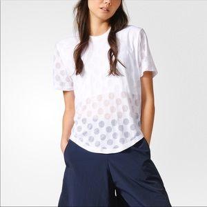 adidas Tops | Adidas Burnout Dots Crop Tee Shirt Small | Poshmark